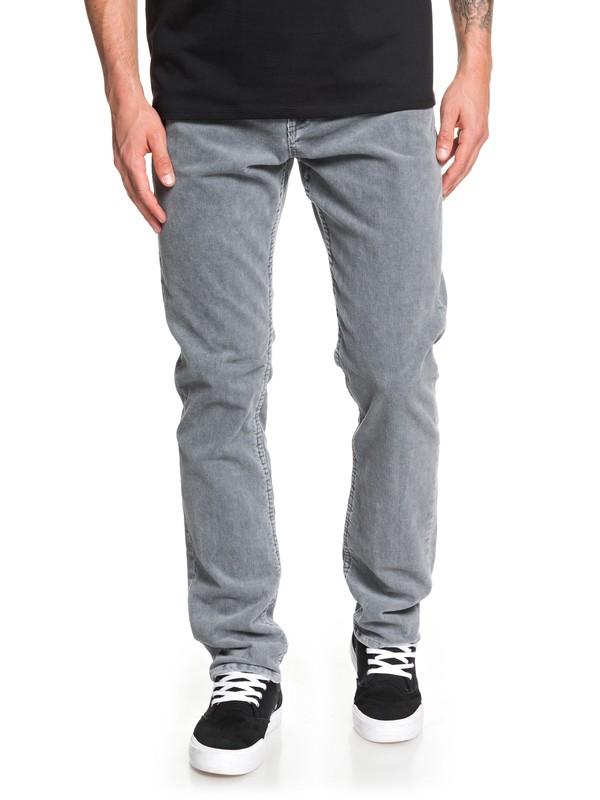 0 Kracker Straight Fit Corduroy Pants Black EQYNP03129 Quiksilver