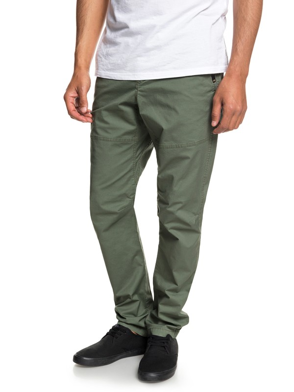 0 Men's Foxoy Straight Tapered Pants Brown EQYNP03134 Quiksilver