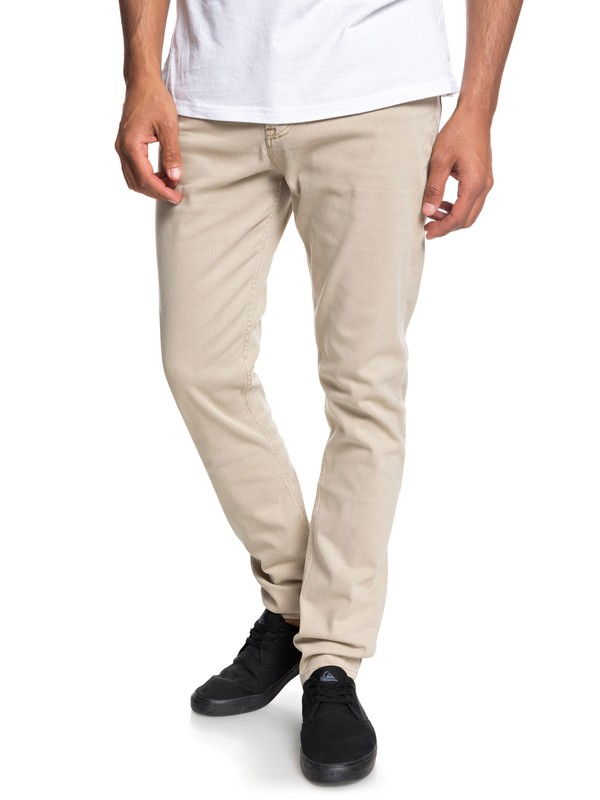 0 Dawn To Dust - Slim Fit Trousers for Men Brown EQYNP03140 Quiksilver