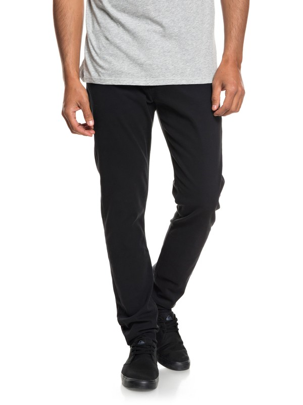 0 Dawn To Dust - Slim Fit Trousers for Men Black EQYNP03140 Quiksilver