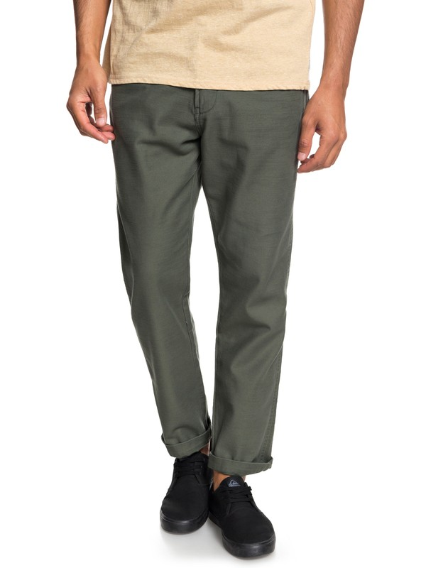 0 Men's Mitake Fatigue Pants Brown EQYNP03148 Quiksilver