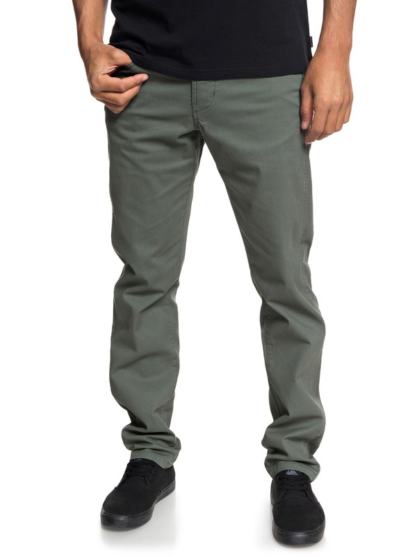 0 Krandy - Straight Trousers for Men Brown EQYNP03151 Quiksilver