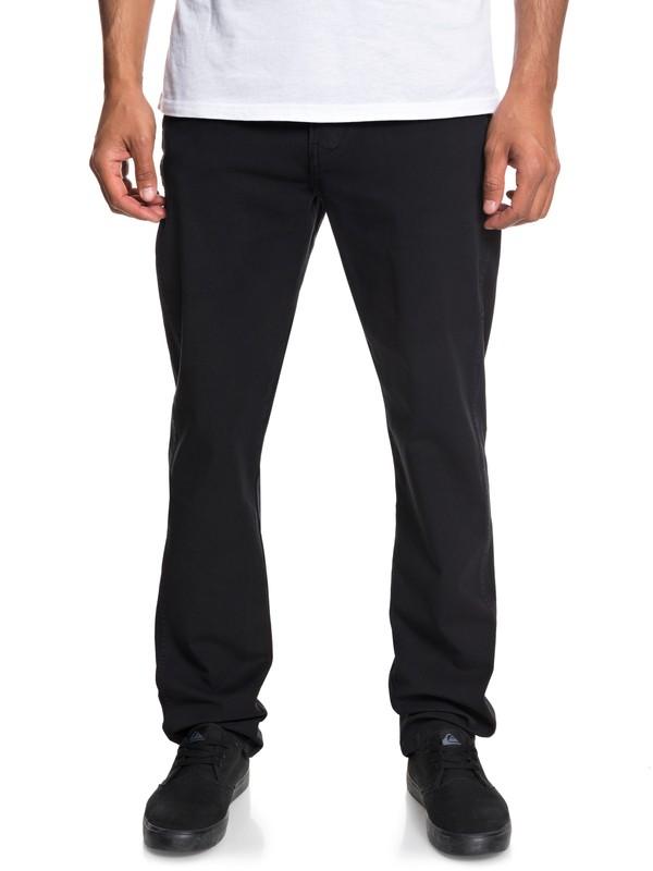 0 Krandy Straight Pants Black EQYNP03151 Quiksilver