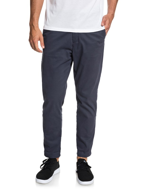 0 Men's QTRVL Crop Chinos Blue EQYNP03152 Quiksilver