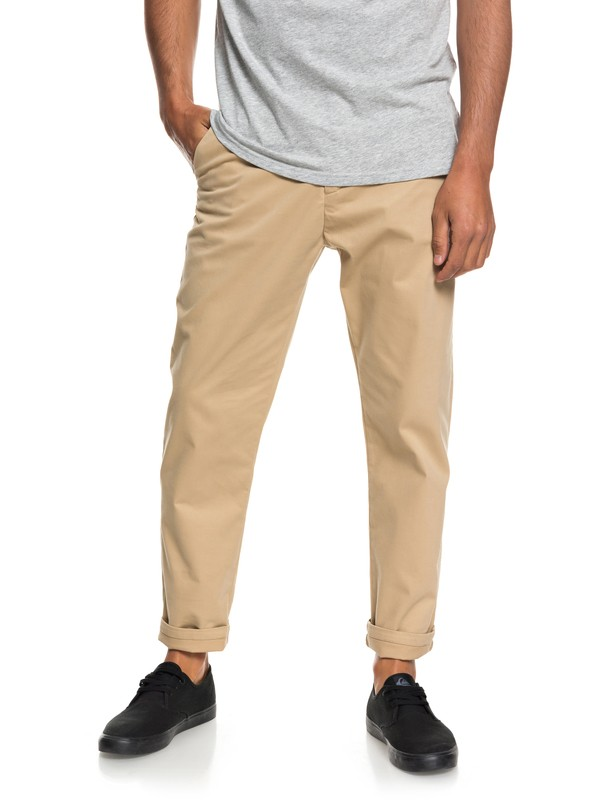 0 Qtrvl Cropped Chinos Brown EQYNP03152 Quiksilver