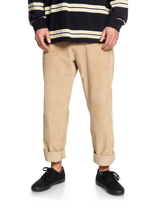 0 Positive Vibrations Relaxed Fit Corduroy Pants Brown EQYNP03176 Quiksilver