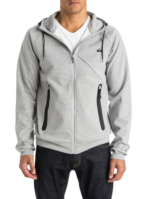 0 Active Nylon Zip Up Polar Fleece Hoodie  EQYPF03010 Quiksilver