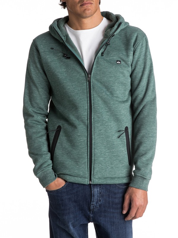 0 Kurow Sherpa - Technical Zip-Up Hoodie  EQYPF03020 Quiksilver