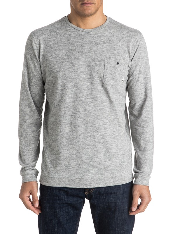 0 Lindow Sweatshirt Grey EQYSW03142 Quiksilver