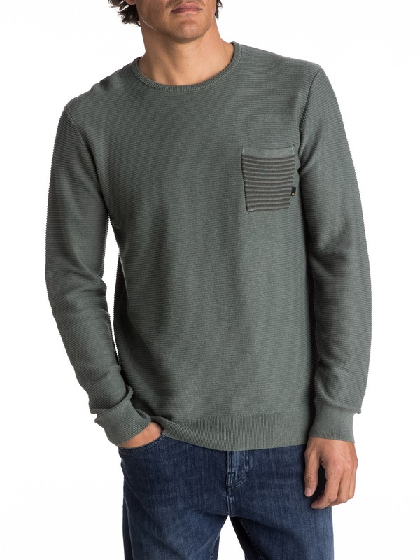 0 Baggao - Pull avec poche pour Homme Vert EQYSW03197 Quiksilver