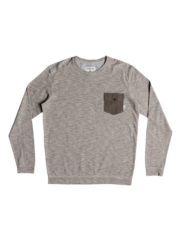 0 Lindow Sweatshirt Grey EQYSW03213 Quiksilver