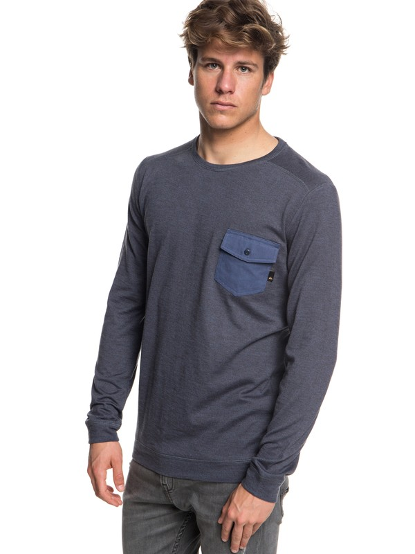 0 Men's Lindow Sweatshirt Blue EQYSW03213 Quiksilver