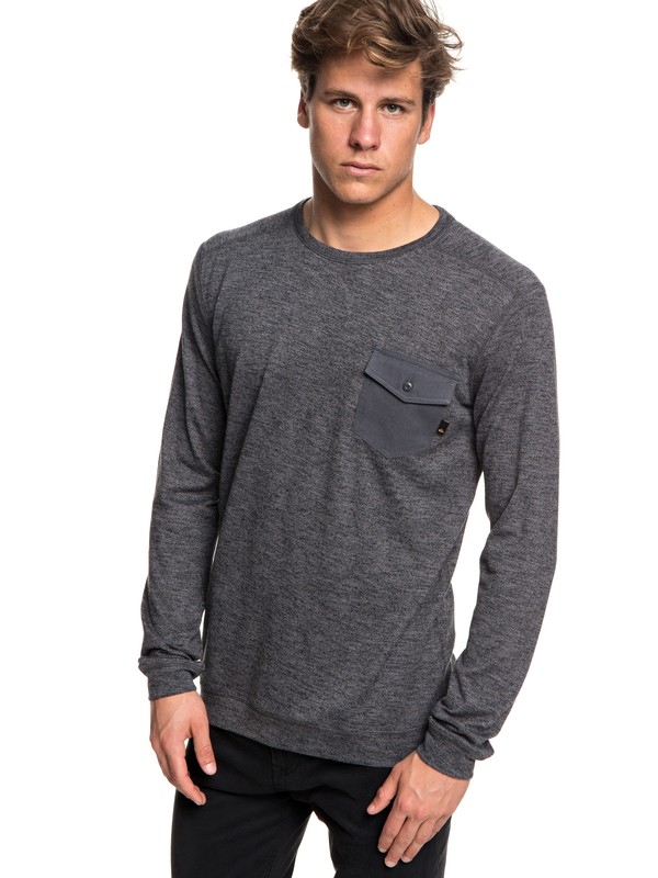 0 Lindow Sweatshirt Black EQYSW03213 Quiksilver