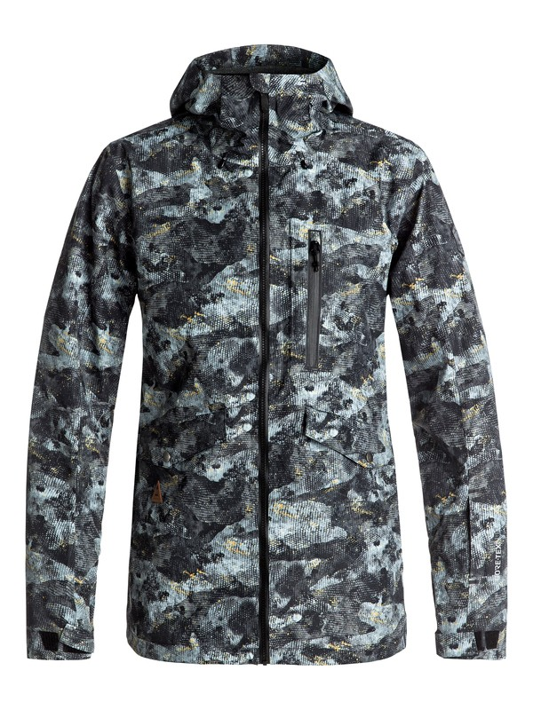 0 Black Alder Pr 2L GORE-TEX® - Veste de snow Marron EQYTJ03151 Quiksilver