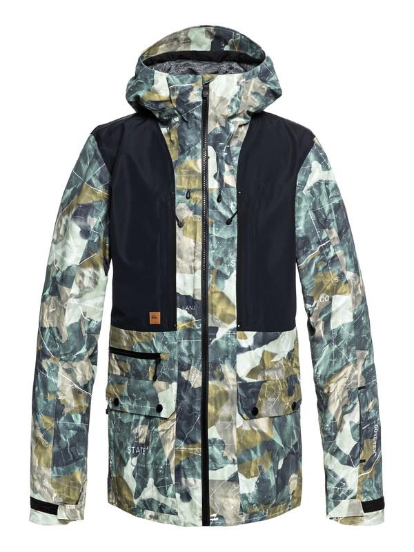 0 Black Alder 2L GORE-TEX® Snow Jacket Brown EQYTJ03169 Quiksilver