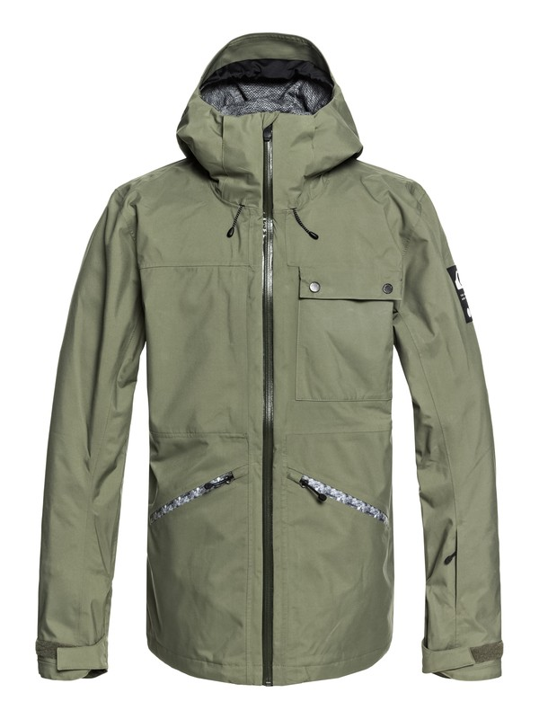 0 Snow SpinDye® - Shell Snow Jacket for Men Brown EQYTJ03171 Quiksilver