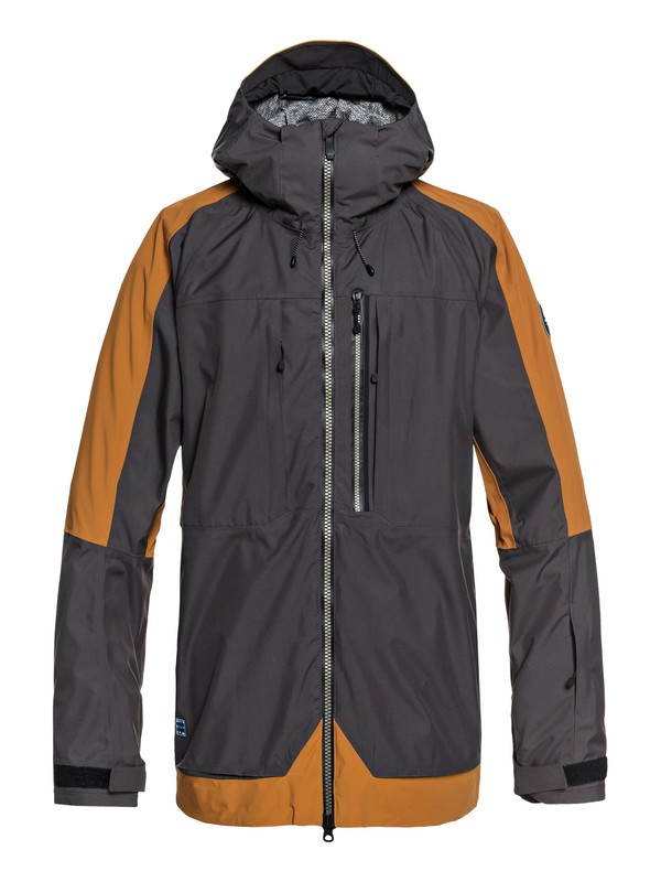 0 TR Stretch - Shell Snow Jacket for Men Brown EQYTJ03172 Quiksilver