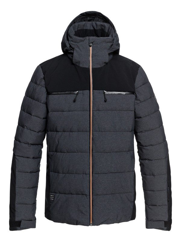 0 The Edge - Puffer Snow Jacket for Men Black EQYTJ03174 Quiksilver