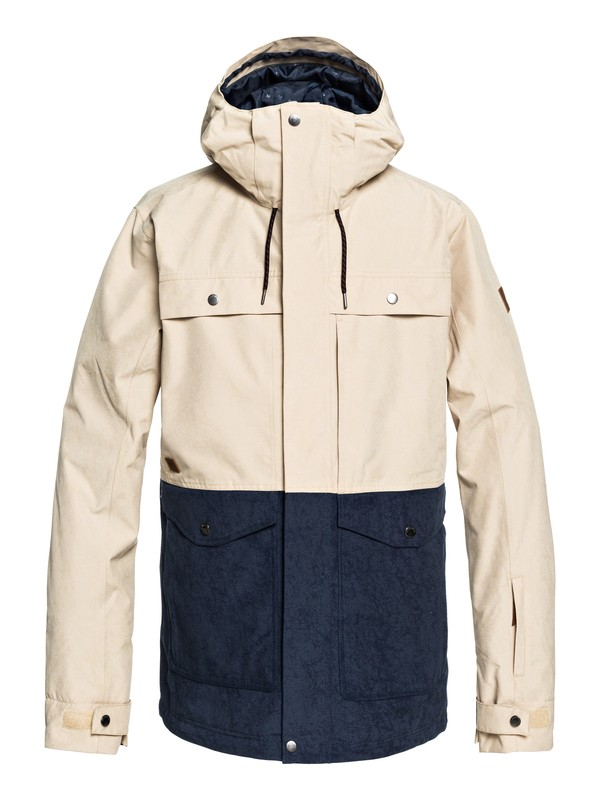 0 Horizon - Military Snow Jacket for Men Beige EQYTJ03177 Quiksilver