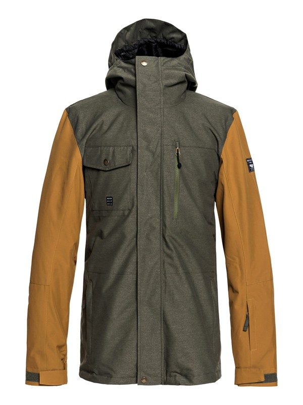 0 Mission 3in1 Shell Snow Jacket Brown EQYTJ03184 Quiksilver