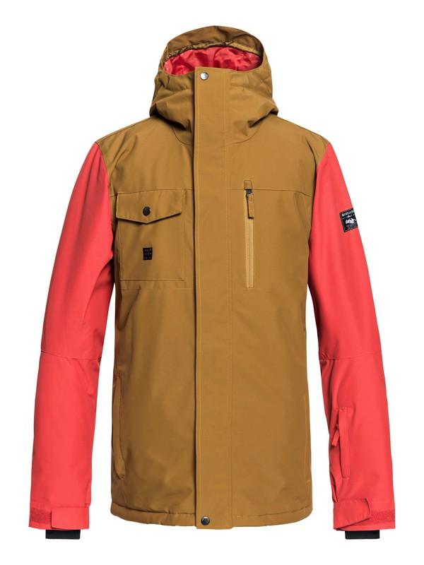 0 Mission - Snow Jacket for Men Brown EQYTJ03185 Quiksilver