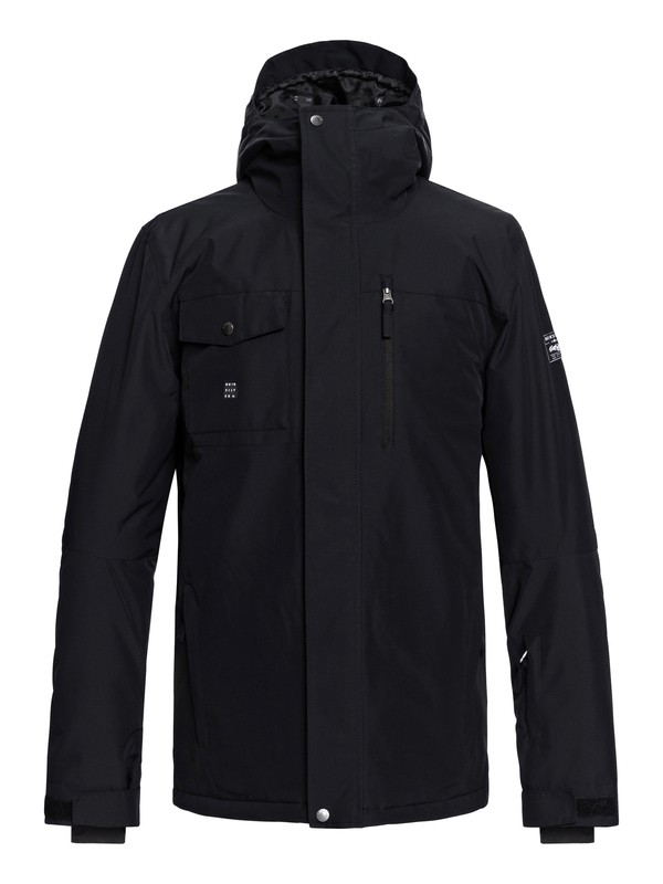 0 Mission - Snow Jacket for Men Black EQYTJ03185 Quiksilver
