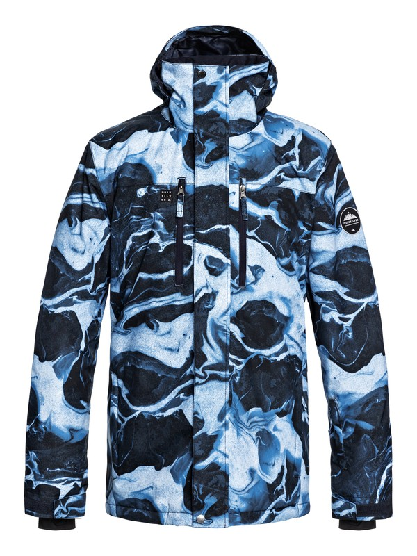 0 Mission - Snow Jacket for Men Blue EQYTJ03186 Quiksilver