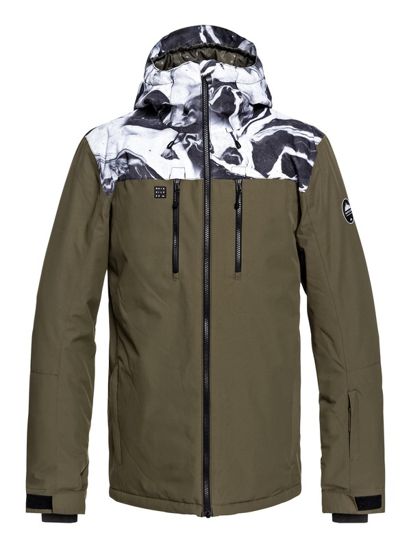 0 Mission Block Snow Jacket White EQYTJ03187 Quiksilver