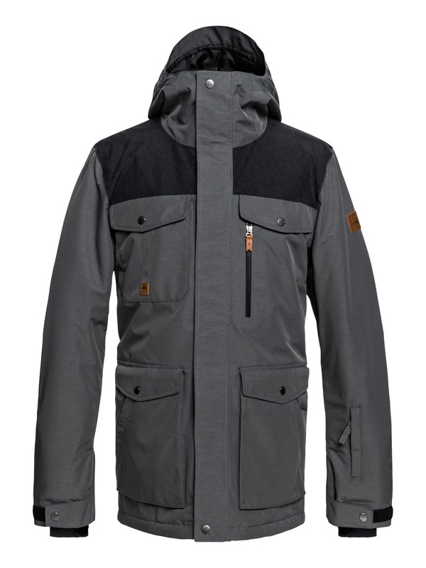 0 Raft - Military Snow Jacket for Men Black EQYTJ03188 Quiksilver