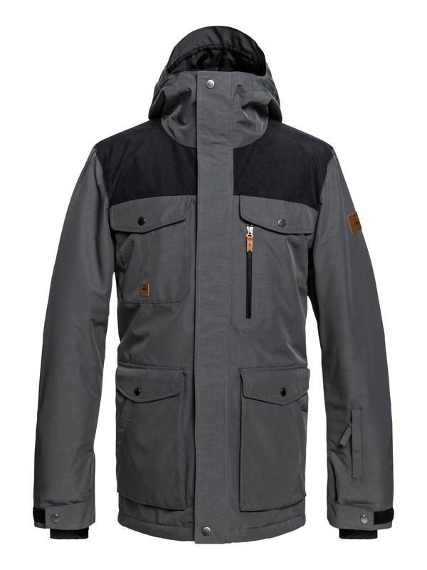 0 Raft - Chaqueta militar para nieve para Hombre Negro EQYTJ03188 Quiksilver