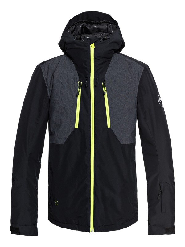 0 Mission Plus - Snow Jacket for Men Black EQYTJ03189 Quiksilver