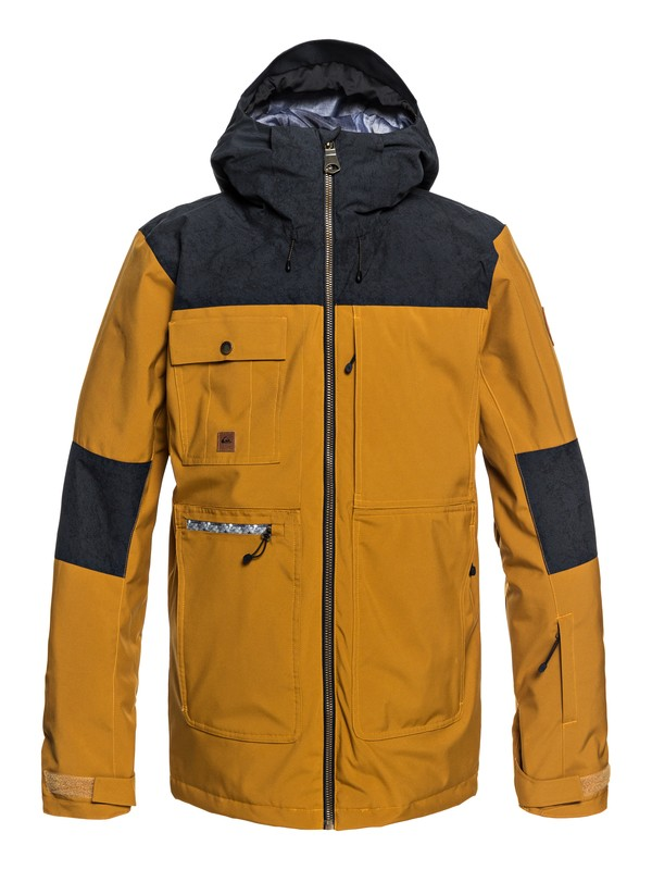 0 Arrow Wood Snow Jacket Brown EQYTJ03191 Quiksilver