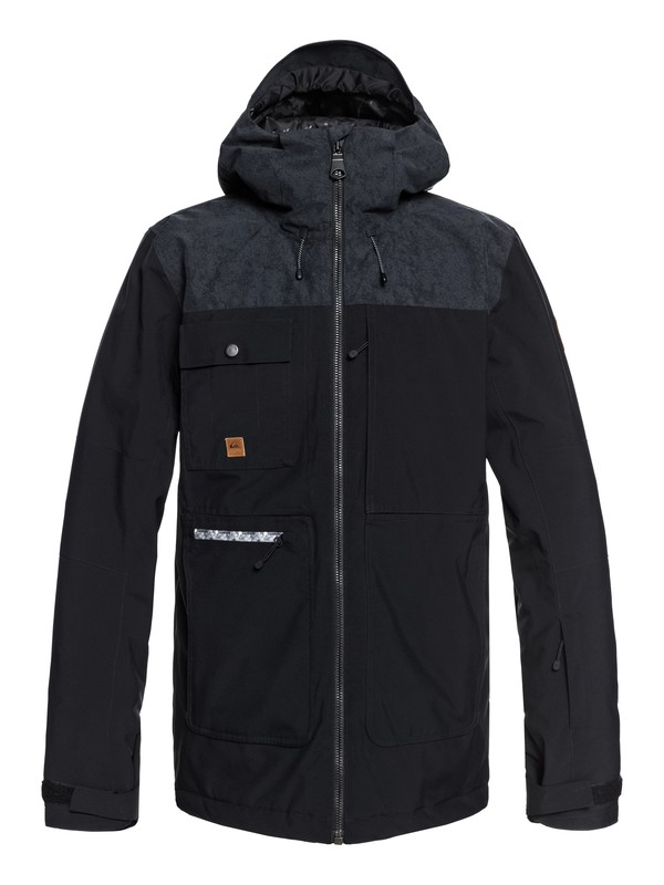 0 Arrow Wood Snow Jacket Black EQYTJ03191 Quiksilver