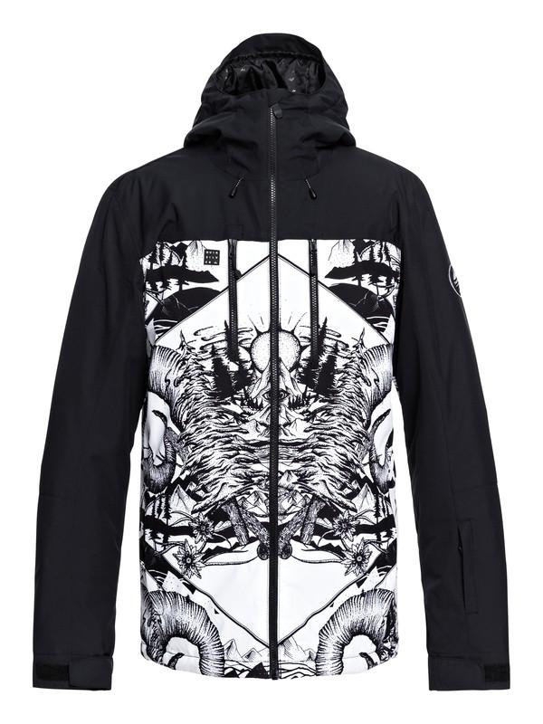 0 Mission Block - Snow Jacket for Men White EQYTJ03194 Quiksilver