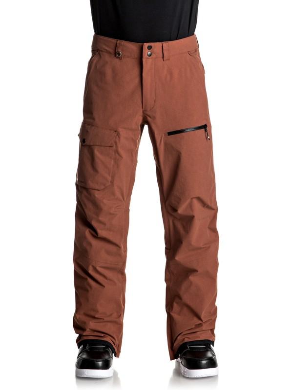 0 Utility - Pantalon de snow pour Homme Rouge EQYTP03059 Quiksilver