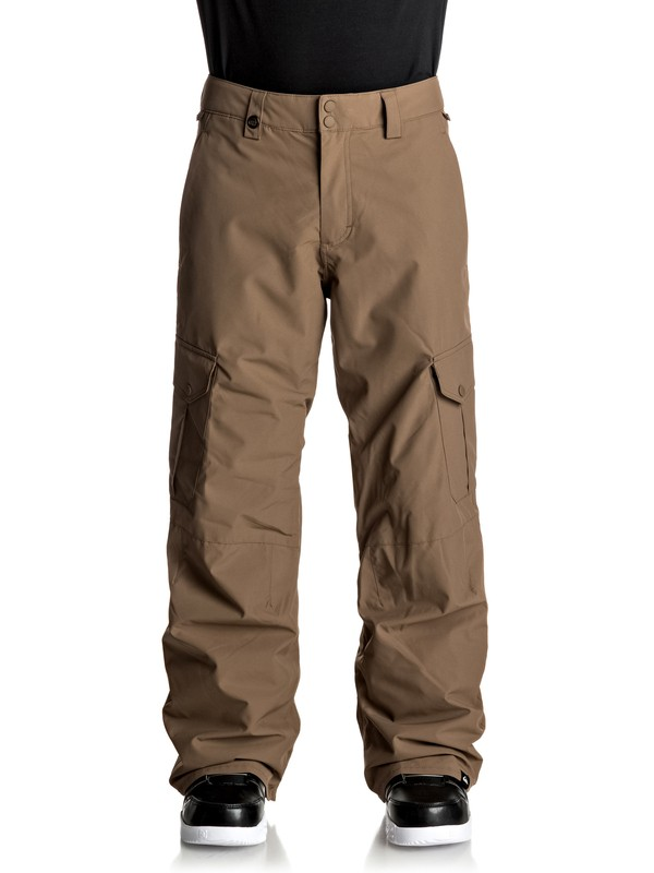 0 Porter Shell Snow Pants Brown EQYTP03060 Quiksilver