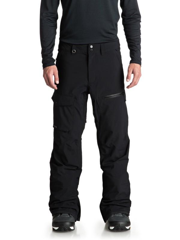 0 Utility - Pantalón shell para nieve para Hombre Negro EQYTP03081 Quiksilver