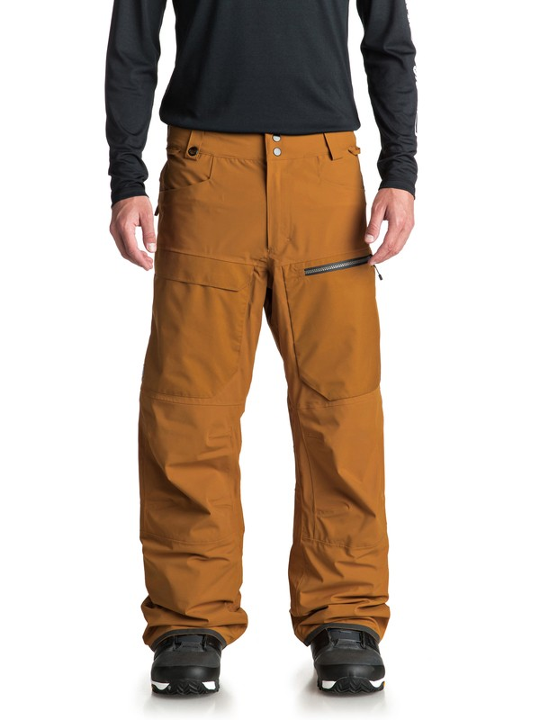 0 Travis Stretch Snow Pants Brown EQYTP03082 Quiksilver