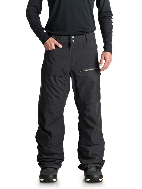 0 Travis Stretch Snow Pants Black EQYTP03082 Quiksilver