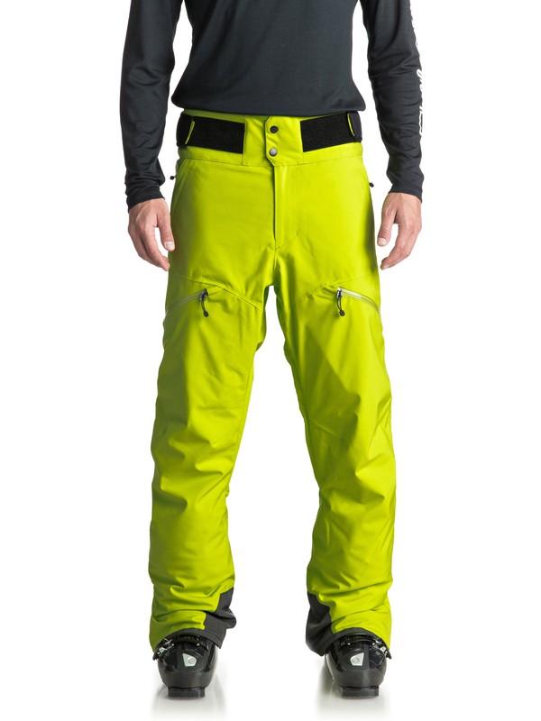 0 Orbitor - Pantaloni da snowboard da Uomo Green EQYTP03083 Quiksilver