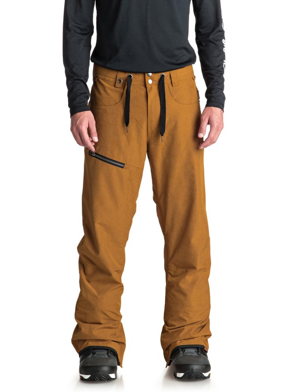 0 Forest Oak Snow Pants Brown EQYTP03084 Quiksilver