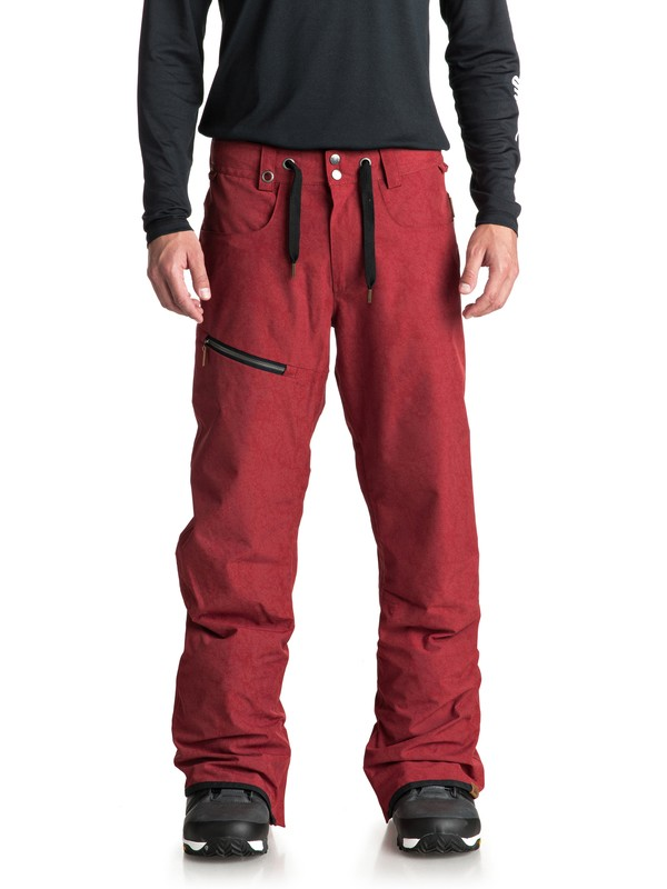 0 Forest Oak Snow Pants Red EQYTP03084 Quiksilver