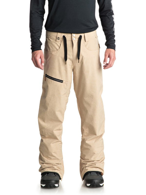 0 Forest Oak Snow Pants Beige EQYTP03084 Quiksilver