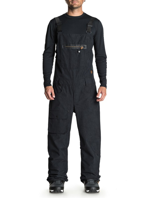 0 Found Snow Bib Pants Black EQYTP03085 Quiksilver