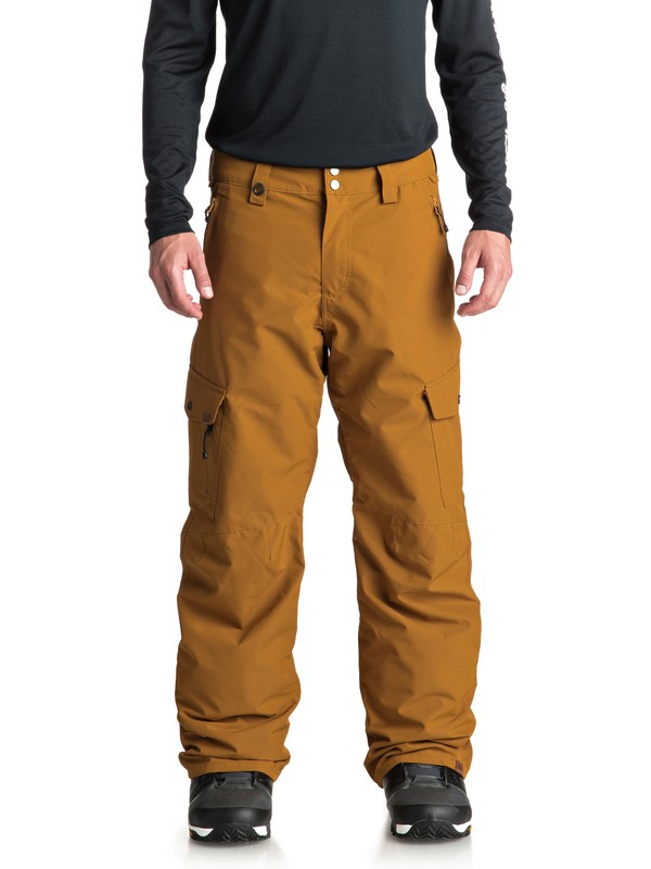 0 Porter Snow Pants Brown EQYTP03087 Quiksilver