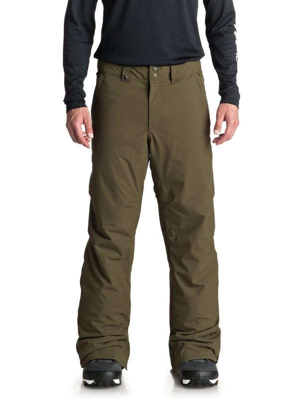 0 Estate - Pantaloni da snowboard da Uomo Brown EQYTP03088 Quiksilver