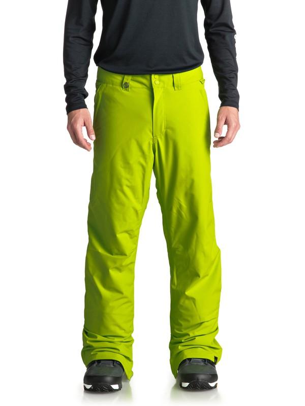 0 Estate - Pantaloni da snowboard da Uomo Green EQYTP03088 Quiksilver