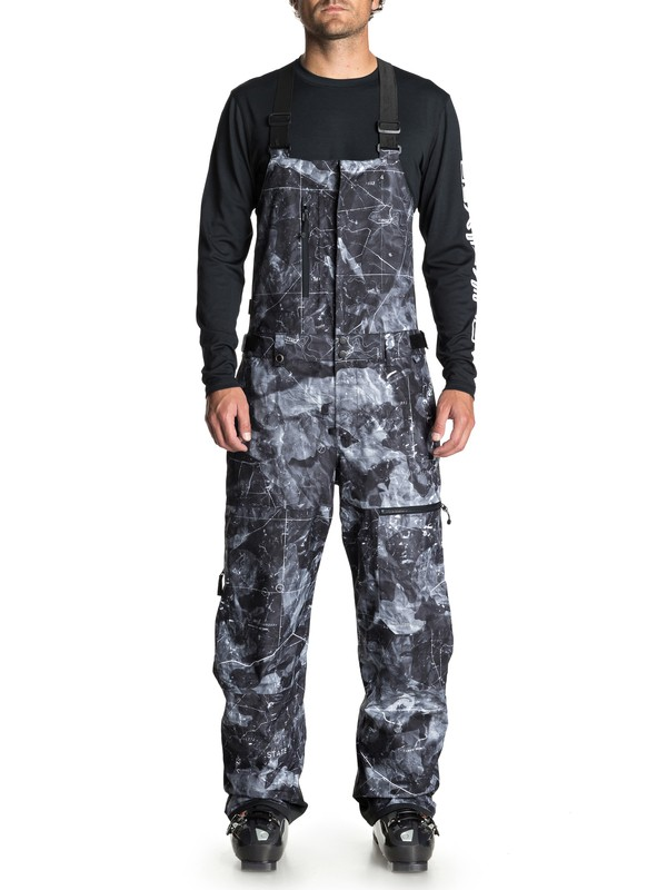 0 Men's Stratus Snow Bib Pants Black EQYTP03091 Quiksilver