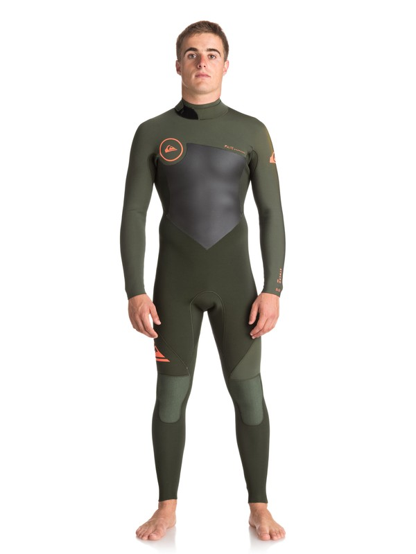 0 3/2mm Syncro Series - Back Zip GBS Wetsuit Brown EQYW103037 Quiksilver
