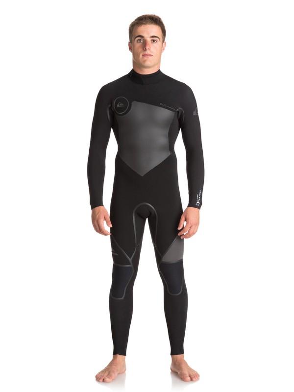 0 3/2mm Syncro Plus Back Zip Wetsuit Black EQYW103039 Quiksilver